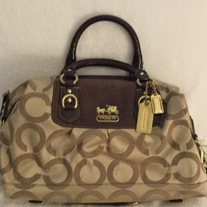Coach Large signature collection top handle bag